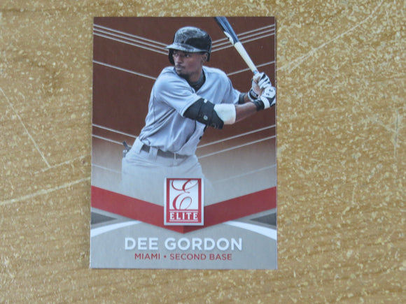 2015 DONRUSS ELITE INSERTS 14 DEE GORDON MARLINS