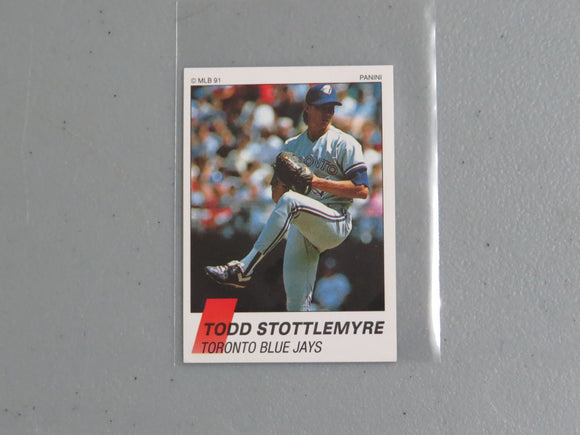 1991 PANINI CANADIAN STICKERS 349 TODD STOTTLEMYRE BLUE JAYS