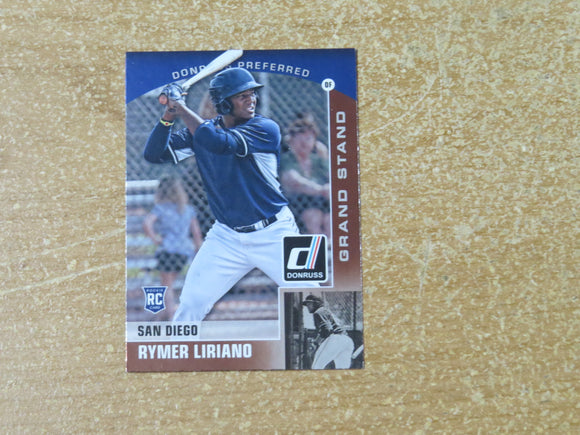2015 DONRUSS PREFERRED BRONZE 16 RYMER LIRIANO PADRES RC
