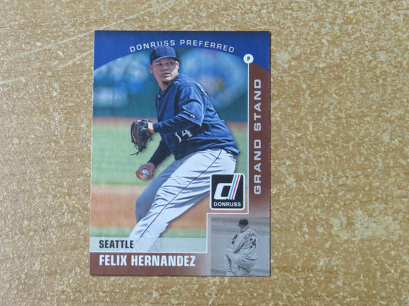 2015 DONRUSS PREFERRED BRONZE 30 FELIX HERNANDEZ MARINERS