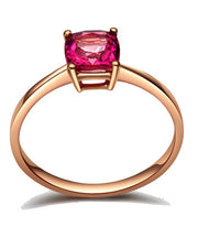 1 Carat Ruby Solitaire Gemstone Engagement Ring in Rose Gold