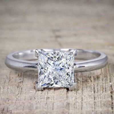 Classic Best seller 1 Carat Princess cut Moissanite Solitaire Engagement Ring