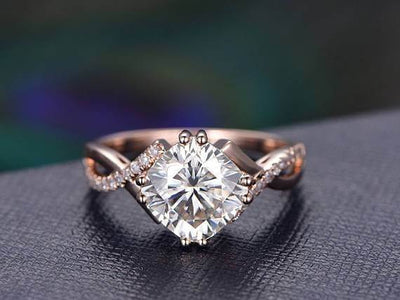 1.25 ct Infinity Moissanite & Diamond Wedding Ring