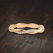 Diamond Moissanite Eternity Wedding Ring Engagement Ring Bridal Ring 10k Gold