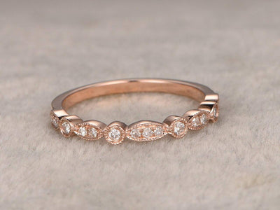 0.50 Half Eternity Wedding Ring Beautiful Twist Curve Wedding Ring Band