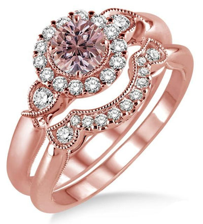 1.25 Carat Morganite Engagement Ring