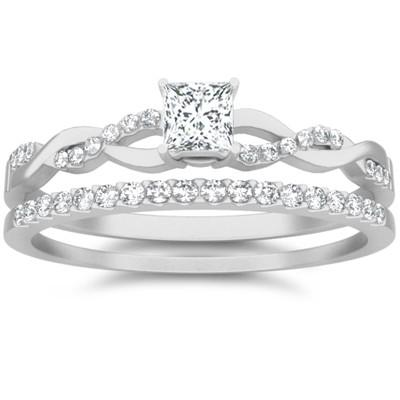 1.50 Carat Diamond Moissanite Wedding Set Engagement Ring