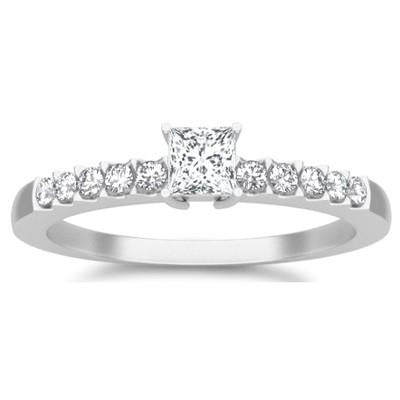 Classic Moissanite Bridal Set Engagement Ring 1.25 Carat