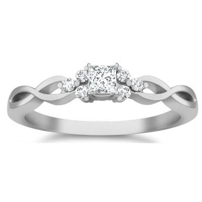 Cheap Engagement Ring 1.25 Carat Moissanite Ring with Diamonds