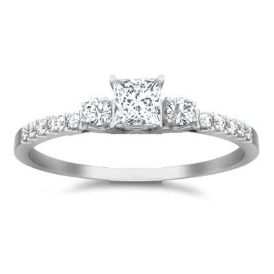 Classic Moissanite Bridal Set Engagement Ring 1.50 Carat