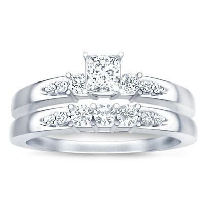 1.50 Carat Classic Moissanite Bridal Set