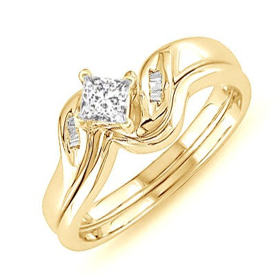 Perfect Moissanite Bridal Ring Set 1.25 Carat on 10k White Gold