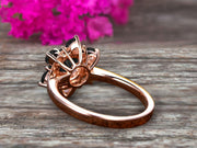 1.25 Carat ound Cut moissanite engagement ring anniversary gift on 10k Rose Gold