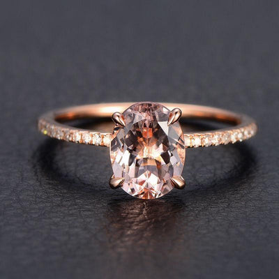 Limited Time Sale 1.25 carat Morganite and Diamond Engagement Ring for Women