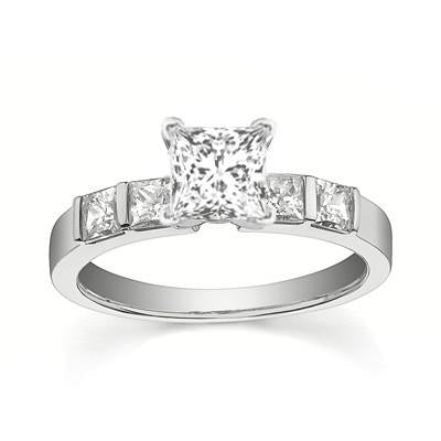 Perfect Wedding Bridal Ring Set Diamond Moissanite Ring 1.25 Carat