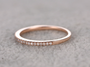 0.25 ct Classic Semi Eternity Wedding Band with Real Diamonds