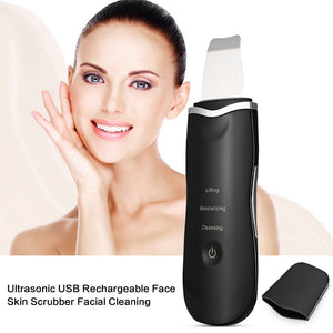 Ultrasonic Rechargeable Face Skin Scrubber