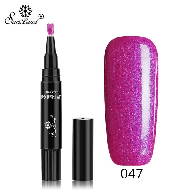 3 In 1 Gel Nail Glitter Gel Polish Pen