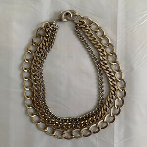 2000s Helmut Lang Triple Layered Chain Necklace - Size OS