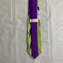 Load image into Gallery viewer, 2000s Yohji Yamamoto Purple and Green Astro Boy Necktie - Size OS