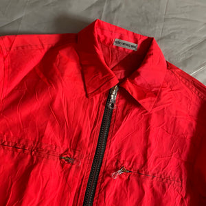 aw2000 Issey Miyake Bright Red Windbreaker Training Jacket - Size M