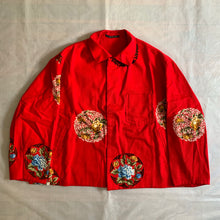 Load image into Gallery viewer, ss1996 Yohji Yamamoto Floral Red Work Jacket - Size M