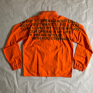 ss2002 Junya Watanabe Orange Poem Windbreaker Jacket - Size M