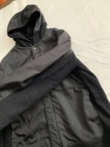 "2000s Samsonite ""Travel Wear"" Textured Nylon & Wool Thinsulate Hooded Jacket by Neil Barrett - Size M"