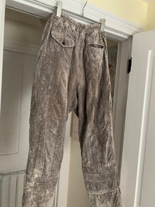 aw1993 CDGH+ Wide Earth Tone Paneled Corduroy Trousers - Size M