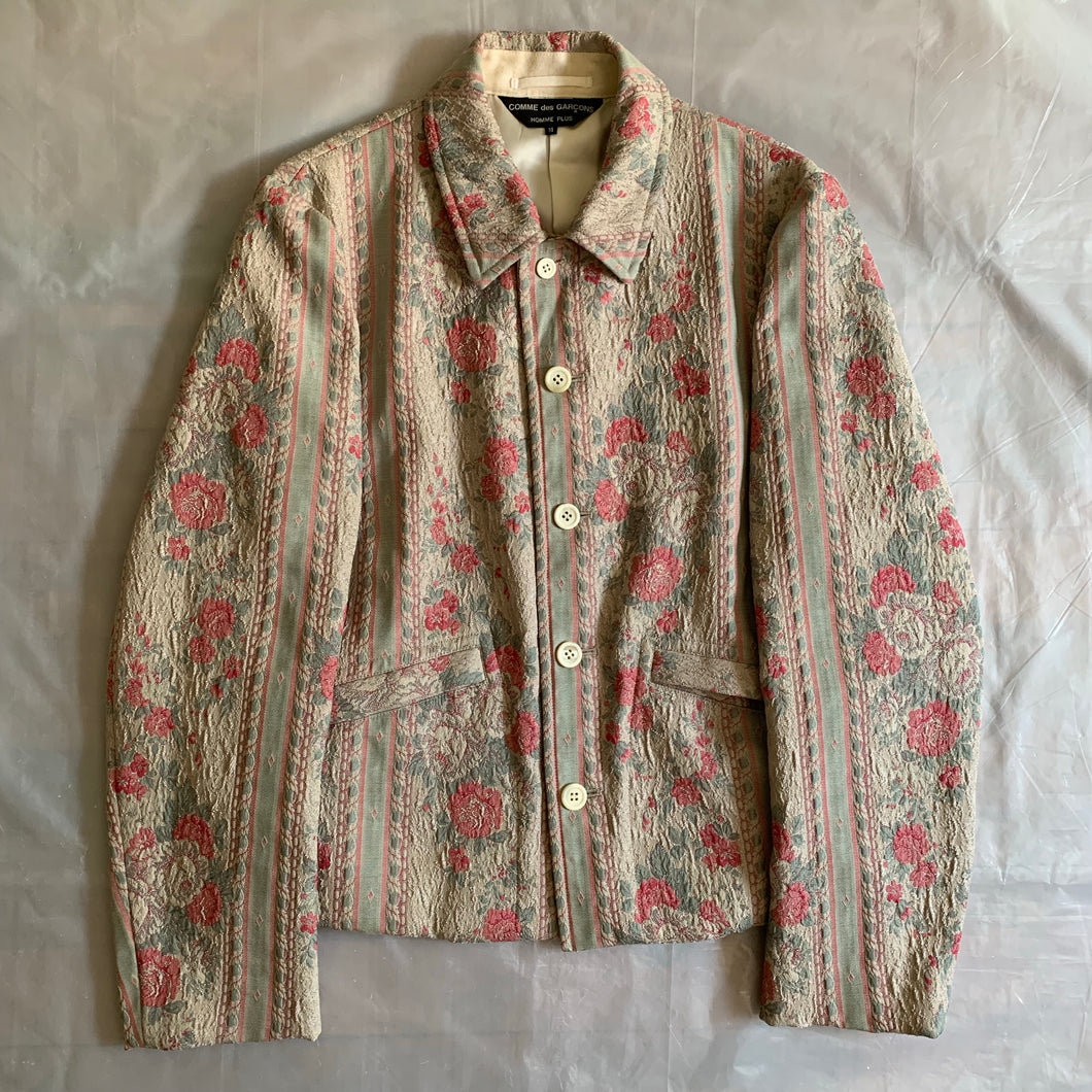 ss2000 CDGH+ Rose Gobelin Tapestry Jacket - Size M