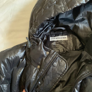 aw1999 Issey Miyake Synthetic Coated Long Down Jacket - Size L