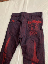 Load image into Gallery viewer, ss2008 Issey Miyake APOC Red Skeleton Leg Bone Pants - Size L