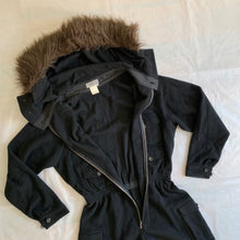 Load image into Gallery viewer, 1990s Yohji Yamamoto Fur Hooded Boiler Suit - Size S