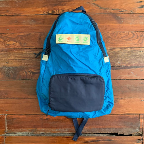 1980s Vintage Yoshida & Co Luggage label Type E-1 Air Force Ripstop Nylon Packable Backpack by Koichi Yamaguchi - Size OS
