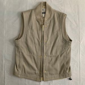aw2000 Issey Miyake Beige X-Ray Cargo Vest - Size L