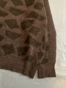 aw1983 Issey Miyake Geometric Spotted Mohair Sweater - Size L