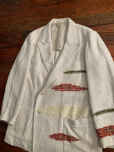 Load image into Gallery viewer, ss1992 Yohji Yamamoto Woven Silk Patched Double Breasted Blazer - Size XL