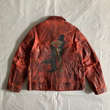 Load image into Gallery viewer, aw2009 Yohji Yamamoto x Justin Davis Uzi Pinup Blood Red Leather Jacket - Size M
