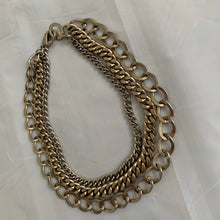 Load image into Gallery viewer, 2000s Helmut Lang Triple Layered Chain Necklace - Size OS