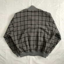 Load image into Gallery viewer, 1990s CDGH Wool Charcoal Grey Checkered Bomber - Size L