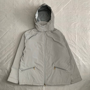 2000s Armani Futuristic Reflective Glass Jacket with Modular Hood - Size XL