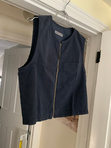 1990s Armani Overdyed Navy Cotton Vest - Size M