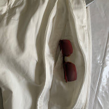 Load image into Gallery viewer, 2000s Issey Miyake White Dual Front Zip Technical Pants - Size S
