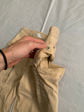 Load image into Gallery viewer, 2000s Armani Beige Gimmick Cargo Pocket Work Pants - Size S