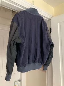 1980s Issey Miyake Switch Sleeve Linen Bomber Jacket with Removable Lining - Size XL