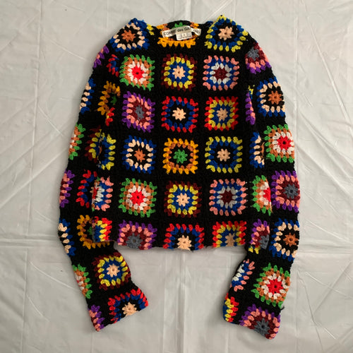 2009 CDG Hand Knitted Floral Sweater - Size S