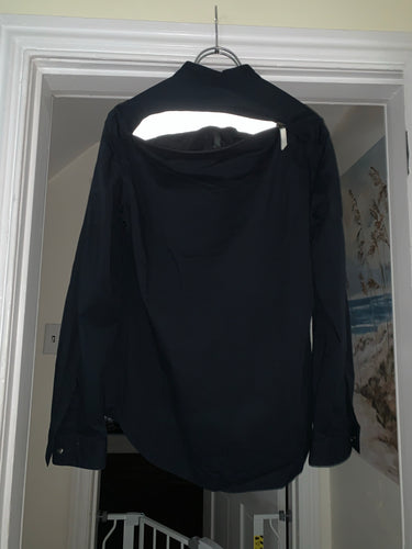 1990s Armani Back Zip Shirt with Mesh Lining - Size M