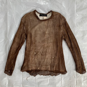 1995 CDGH+ Distressed Mesh Layered Shirt - Size M