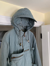 Load image into Gallery viewer, 1990s Armani Faded Olive Hooded Bomber with Modular Kangaroo Pouch - Size L