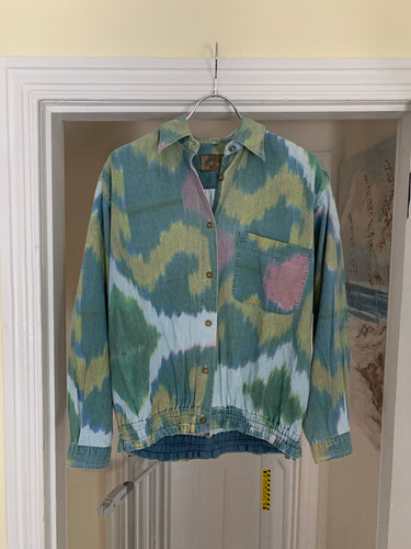 1990s Armani Dyed Cropped Work Shirt - Size M